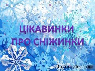 цікавинки про сніжинки